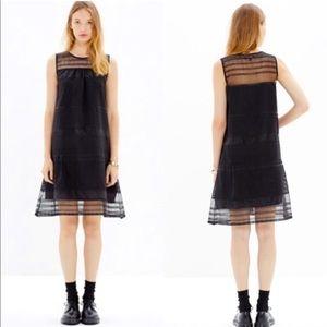 Madewell dushkeer embroidered sheer panel dress